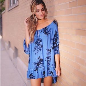 Tops - Floral Peasant Tunic